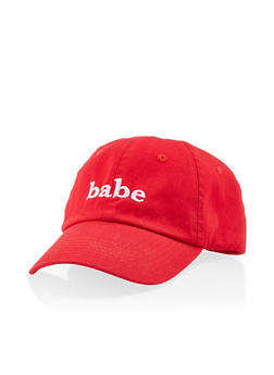 Babe Embroidered Baseball Cap - 1129074507603