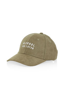 Alcohol You Later Graphic Baseball Cap - OLIVE - 1129074507608
