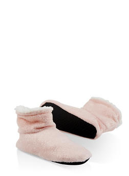 Sparkle Foil Bootie Slippers - 1130055321000