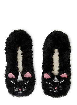 Fuzzy Animal Slippers - BLACK - 1130055321010