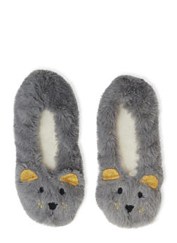 Fuzzy Animal Slippers - 1130055321010