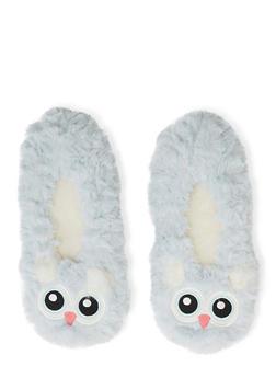 Fuzzy Animal Slippers - BLUE - 1130055321010