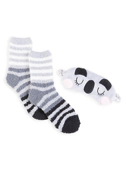 Plush Socks and Animal Sleep Mask Set - 1130055321130