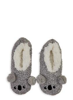 Critter Pom Pom Slippers - 1130055321477