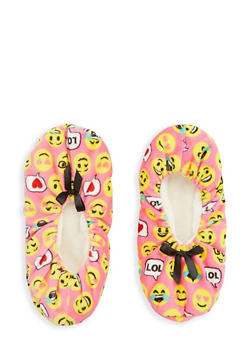 Printed Fuzzy Slipper Socks - PINK - 1130055321968