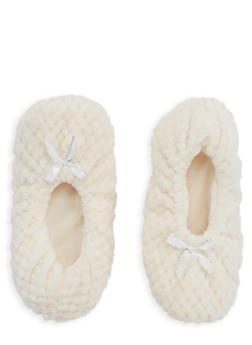 Fuzzy Slipper Socks - IVORY - 1130055321973