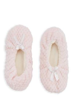 Fuzzy Slipper Socks - PINK - 1130055321973