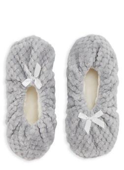 Fuzzy Slipper Socks - GREY - 1130055321973