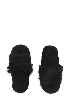 Faux Fur Slippers - 1130055321976