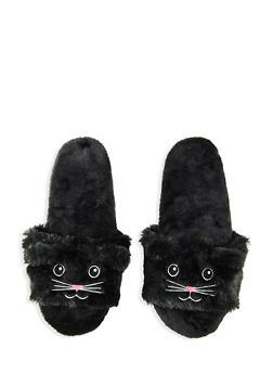 Fuzzy Animal Slippers - BLACK - 1130055322741