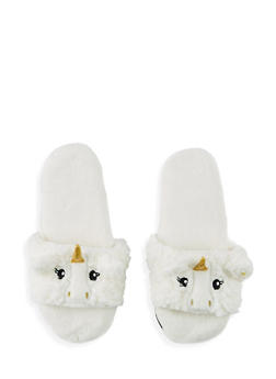 Fuzzy Animal Slippers - 1130055322741