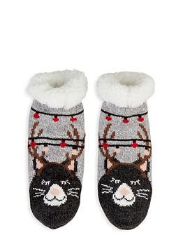Holiday Sherpa Lined Slipper Socks - 1130055323344