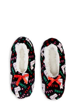 Sherpa Lined Christmas Animal Slippers - 1130055324884
