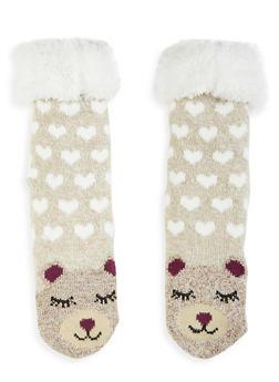 Animal Fuzzy Knit Socks - 1130055325552