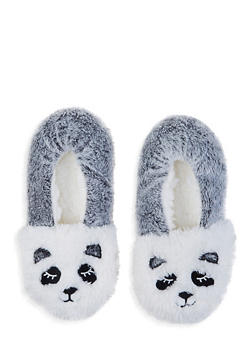 Fuzzy Animal Slippers - IVORY - 1130055325777