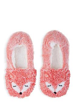 Fuzzy Animal Slippers - 1130055325777
