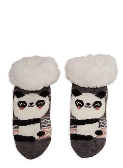 Animal Graphic Sherpa Lined Sweater Socks - 1130055328544