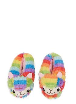 Rainbow Llama Slippers - 1130074236996