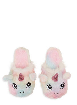 Unicorn Faux Fur Slippers - 1130074237000
