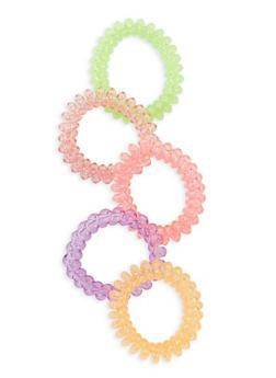 Set of 5 Cord Hair Ties - 1131062752419