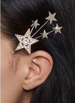 Rhinestone Star Hair Clip - 1131062755558