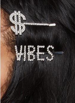 Dollar Sign Vibes Bobby Pin Duo - 1131062813547