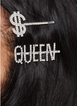 Queen Dollar Sign Bobby Pins - 1131062813549