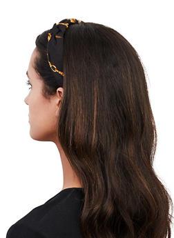 Black Status Print Headband - 1131062815438