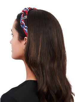 Red Status Print Headband - 1131062815800