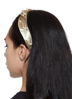 Faux Pearl Satin Head Wrap - 1131062815996