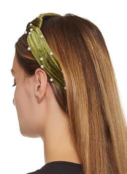Faux Pearl Headband - 1131062816275