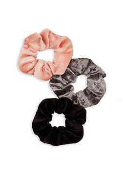Set of 3 Velvet Scrunchies - 1131062817035