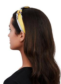 Yellow Status Print Headband - 1131062817166