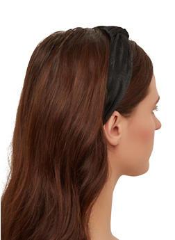 Black Knotted Headband - 1131062818988