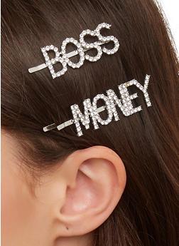 Boss Money Rhinestone Bobby Pins - 1131063090323