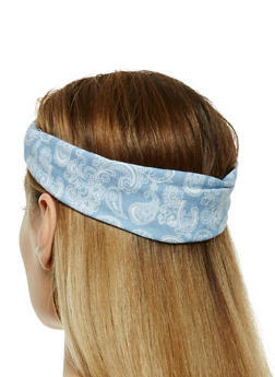 Set of 2 Paisley Print Headwrap - 1131063090723