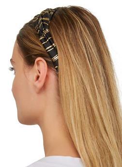 Foil Striped Head Wrap - 1131063091526