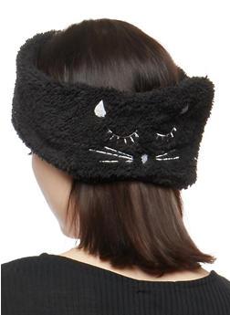Soft Sleeping Cat Headband - BLACK - 1131063092515