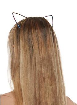 Foil Metallic Cat Ears Headband - 1131063094616