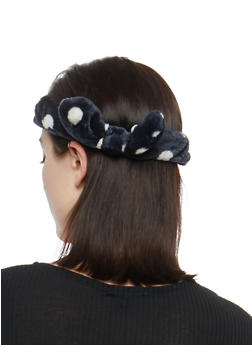 Soft Polka Dot Bow Headband - 1131063095149