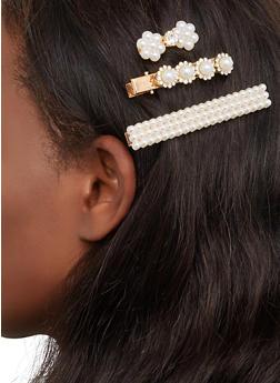 Faux Pearl Hair Clips - 1131063099190