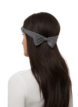 Set of 2 Bow Head Wraps - RED - 1131067251712