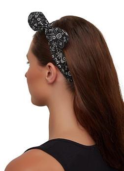 Bandana Print Knotted Head Wrap - 1131067252885