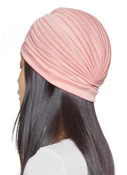 Twist Front Turban Head Wrap - BLUSH - 1131074171274