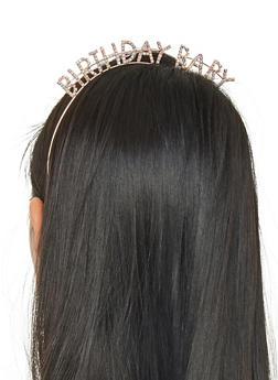 Rhinestone Birthday Baby Headband - 1131074171511