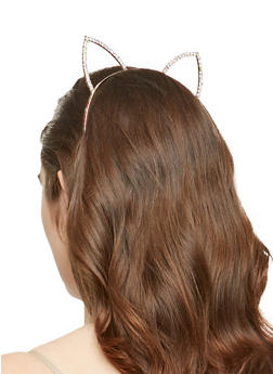 Rhinestone Cat Ear Headband - 1131074172711