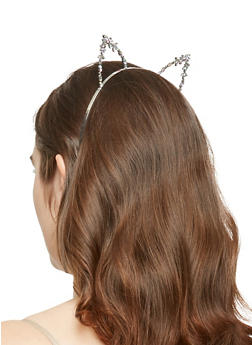 Multi Color Rhinestone Cat Ears Headband - 1131074172713