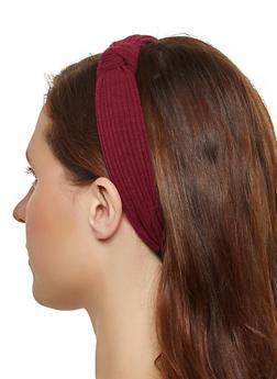 Ribbed Knot Front Headband - 1131074173710