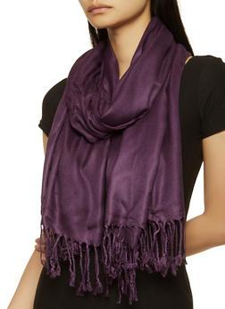 Purple Pashmina Scarf - 1132051441039