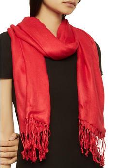 Red Pashmina Scarf - 1132051441804